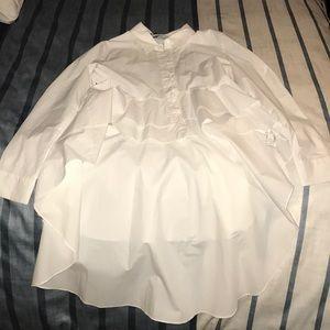 Zara button up shirt with long train